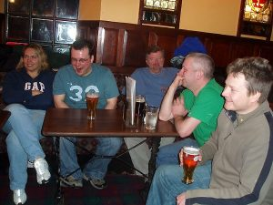 Rachael, Stuart, Paul, Stuart and Andy in the Oban Inn
