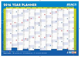 2016 year dive planner